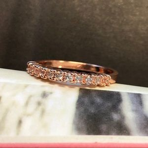 Jewelry - Rose Gold Pave Ring SZ 7 NWOT